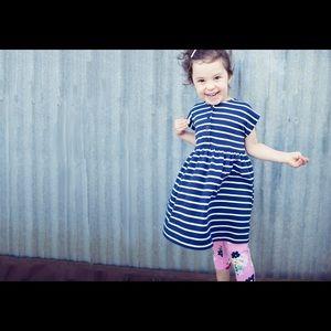 Hanna Andersson Navy Playdress +Bonus leggings